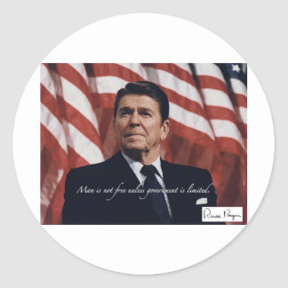 Limited Government Round Sticker
