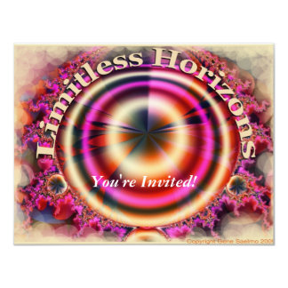 Limitless Horizons 11 Cm X 14 Cm Invitation Card