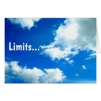 Limits.. Greeting Card