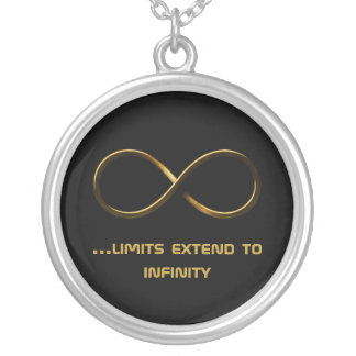 ...limits extend to infinity | Love Forever Round Pendant Necklace