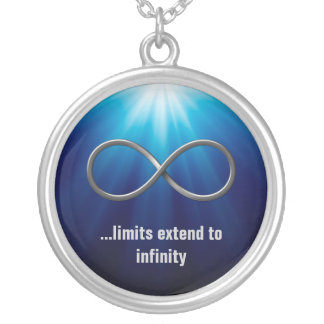 ...limits extend to infinity silver plated necklace
