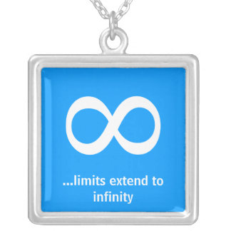 ...limits extend to infinity square pendant necklace