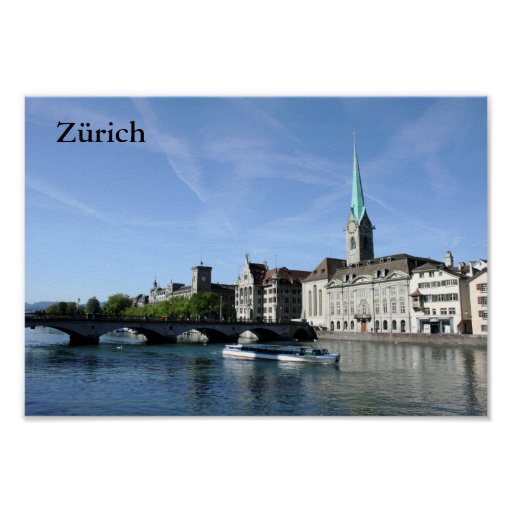 Limmat River in Zürich Poster