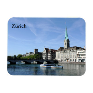 Limmat River in Zürich Rectangular Photo Magnet