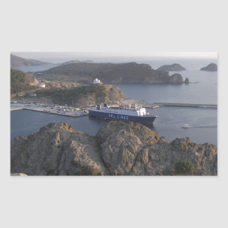 Limnos Ferry From The Hill Stickers