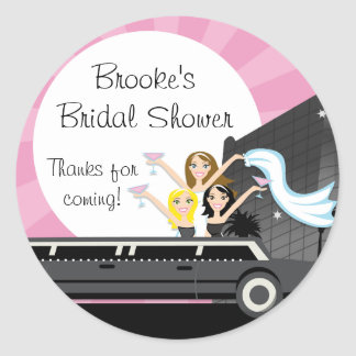 Limo Bridal Shower Sticker