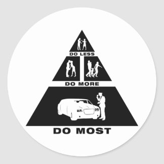 Limo Driver Round Stickers
