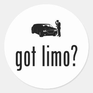 Limo Driver Round Sticker