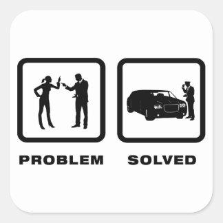 Limo Driver Square Sticker
