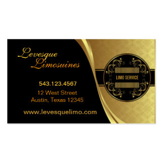 Limo - Gold & Black Business Card
