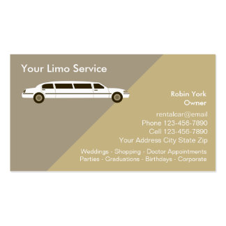 Limo Rental Car Service Business Cards