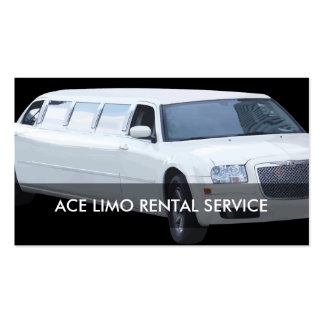 Limo Rental Service Pack Of Standard Business Cards