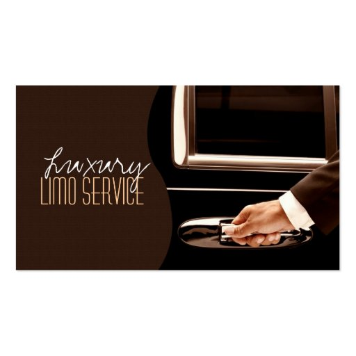 Limo Service Driver, Cab, Taxi Business Card