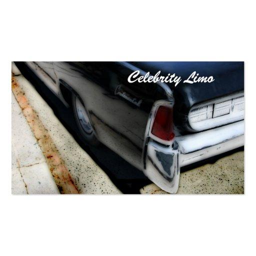 limo service / luxury car rental business card tem