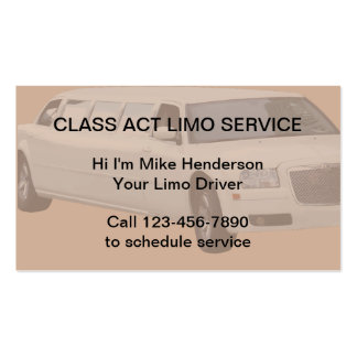 Limo Service Taxi Business Cards