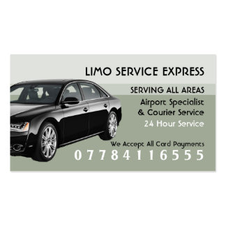 Limo Taxi Service Airport And Station Price List Pack Of Standard Business Cards
