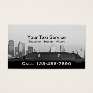 Limo & Taxi Service Modern City Professional Car