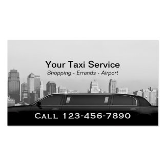 Limo & Taxi Service Modern City Professional Car Pack Of Standard Business Cards
