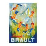 Limonade Brault Vintage PosterEurope Canvas Print