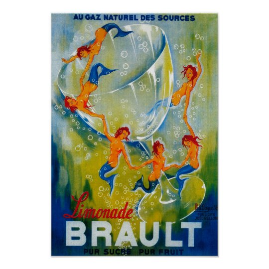 Limonade Brault Vintage PosterEurope Poster
