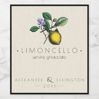 Limoncello Bottle Label |