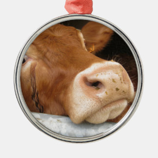 Limousin Cattle (Mad Cow) Christmas Ornament