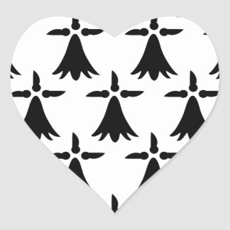 Limousin Flag Heart Sticker