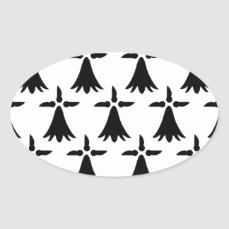 Limousin Flag Oval Sticker
