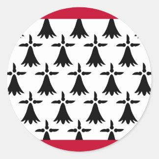 Limousin Flag Round Sticker