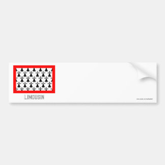 Limousin flag with name car bumper sticker