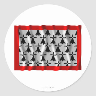 Limousin waving flag stickers