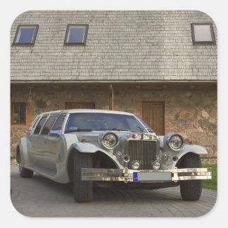 Limousine at homestead 2 square sticker