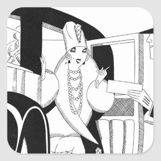 Limousine by Anne Harriet Fish Square Sticker
