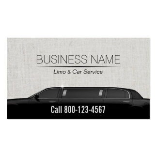Limousine Limo & Car Service Classy Linen Pack Of Standard Business Cards