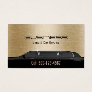 Limousine Limo & Car Service Modern Gold Business Card