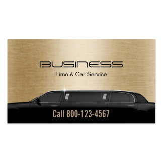 Limousine Limo & Car Service Modern Gold Pack Of Standard Business Cards