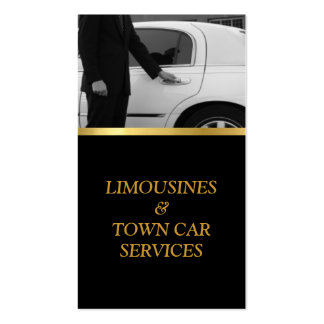 Limousine, Limo, Town Card, Driver Service Pack Of Standard Business Cards