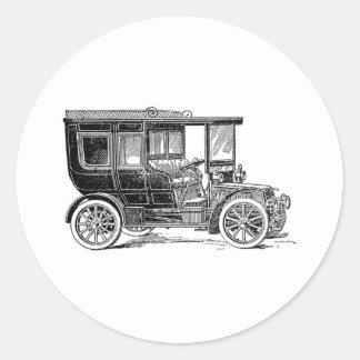 Limousine Round Sticker