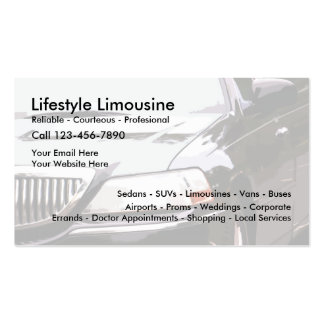 Limousine Service Pack Of Standard Business Cards