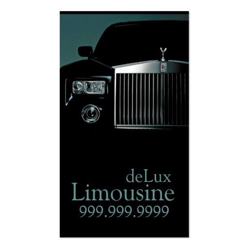 Limousines, Limo Services, Driver Business Card