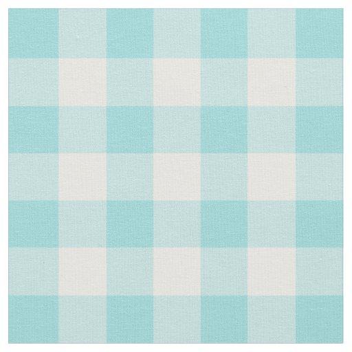 Limpet Shell Aqua & White Gingham Check Fabric