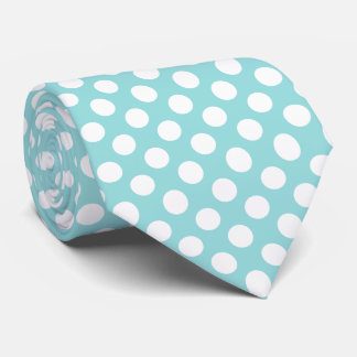 Limpet Shell White Polka Dots Tie