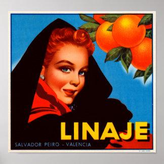 Linaje Citrus Print