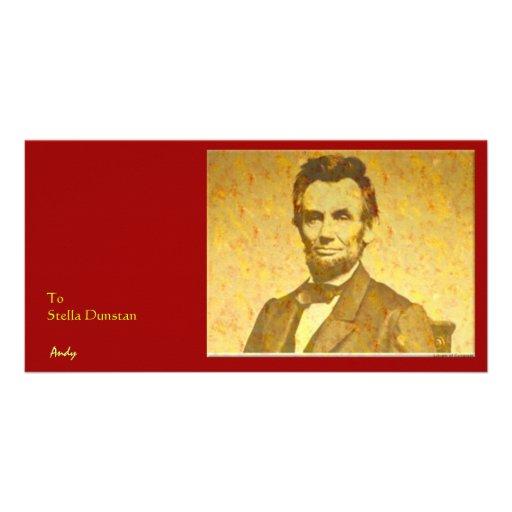 Lincoln 1864 Portrait Customized Photo Card