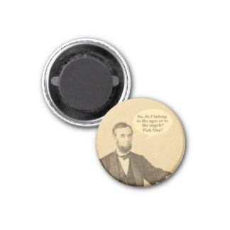 Lincoln Ages or Angels Historic Quote 3 Cm Round Magnet