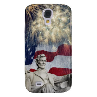 Lincoln and Fireworks Galaxy S4 Cover