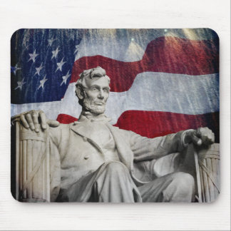Lincoln and Fireworks Mouse Pad