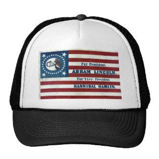 Lincoln and Hamlin Campaign Sign Cap