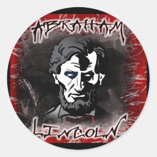 Lincoln Bloodless Horror Star Round Sticker