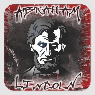 Lincoln Bloodless Horror Star Square Stickers